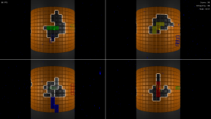 Four players adding protective layers